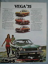 FOLLETO de CHEVROLET VEGA 1975 versión 2 del mercado canadiense