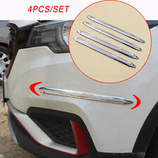 4X Bumper Crash Anti-rub Car Body Side Guard Edge Strip Protection Accessories