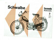 Original-Reklame Schwalbe Saxonette Automatic 2 Gänge Motorfahrrad ca. 1950/60er