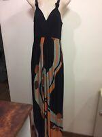Womens Maxi Colorful Dress Sz12 Jane Lamerton Made In Australia