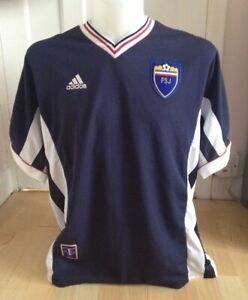 Yugoslavia Home Shirt 1998 World Cup Size XL - #9 Mijatovic - Adidas