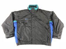 Columbia Bugaboo Mens Large 3 In 1 Interchange Ski Jacket Black Teal Vintage 90s