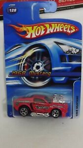 """2006 Hotwheels Variation """"No Tam's Cam's Tampo"""" 1968 Ford Mustang # 128"""