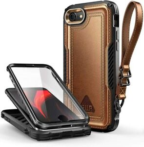 SUPCASE Leather Case For iPhone SE 2nd Gen 2020 & iPhone 8 7 with Screen Cover