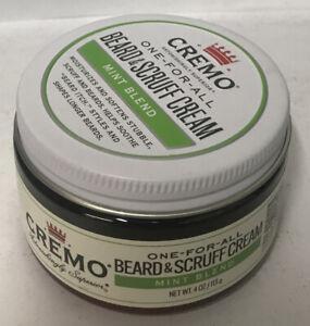 Cremo Beard & Scruff Cream, Mint Blend 4 oz