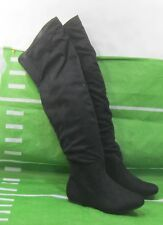 New Womens Black Soft Round Toe Over Knee Sexy Boots Size  6
