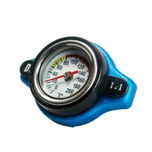 Aluminum Car Thermostatic Gauge Radiator Cap 1.1 bar Small Head Water Temp Meter