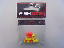 fishzone floating beads 8mm mixed red/yellow 12 beads per pack