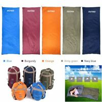 Outdoor Envelope Sleeping Bag Ultra-Light FOR Camping Hiking Home & Travel Singl