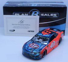 2018 Bubba Wallace #43 STP/Darlington Raced Color Chrome 1:24 Autographed Auto
