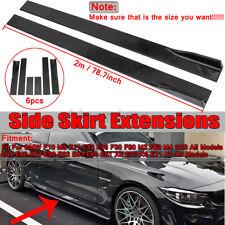 For BMW F10 F30 F32 E60 E61 X5 E70 X6 Side Skirt Extension Rocker Panel Splitter