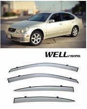 For 98-05 Lexus GS300 GS400 GS430 Premium Series WellVisors Side Window Visors