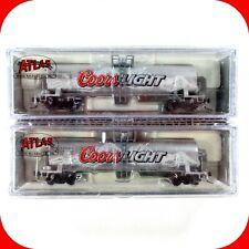 N Scale COORS LIGHT BEER Tank Car 2-Pack Set - ATLAS NSC 07-14a 14b **VERY RARE