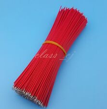 500Pcs Red Double End Tinned 15cm 26AWG 1007 Solder Jumper Wire Commector