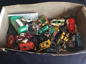 Large Vintage Aurora AFX Tyco HO Slot Car Junkyard Broken Parts AS IS Lot