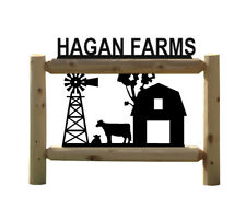 Personalized Farm And Ranch Outdoor Sign