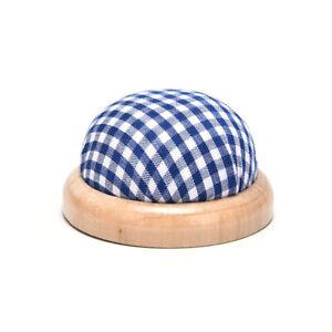 Wood Bottom Base Needle Pin Cushion Pillow Holder Sewing Craft StitchY TdJ TM