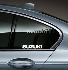 2 - SUZUKI Sport Racing Vinyl Decal sticker emblem logo WHITE