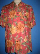 Caribbean Joe Floral Heavy Rayon Hawaiian Camp Shirt L NWOT