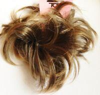 Hair Scrunchie for bun or ponytail Light Brown hair Piece Bun scrunchie