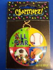 Championship Sports Christmas Birthday Party Favor Charmerz Confetti Gift Tag