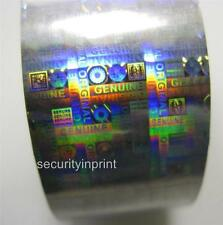 """Holographic Silver Security Hot Foil """"GENUINE ORIGINAL"""" Roll 30mm wide 120m Long"""