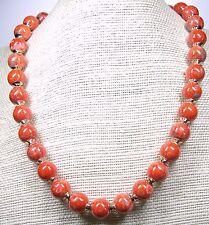 """Genuine Unikite Bead  Necklace 18"""" 1/2"""" Round Bead"""