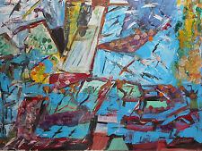 Original Oil Painting on canvas - BIRDS OVER THE CITY