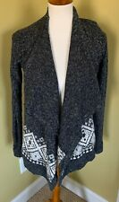 Womens Hollister Gray Cardigan Sweater Size Small