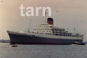 35mm slide Cruise ship Transual Castle London 1960s r157