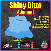 Shiny Japanese DITTO ADAMANT | Perfect 6IV | Masuda | Pokemon Sword Shield