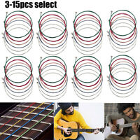 3 - 15 x Set of Guitar Strings Replacement Steel String for Acoustic Guitar
