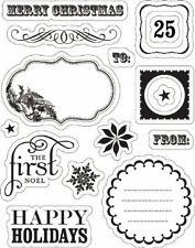 45% OFF! MAKING MEMORIES 'NOEL' IMPORTED CLEAR STAMPS BNEW IN PACK SRP US$7.99