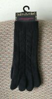 Christian Siriano Women's Knit 100% Cashmere Black Gloves One Size (1 Pair) NWT