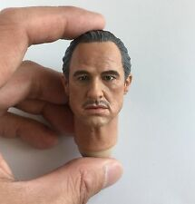 Custom Godfather 1/6 Head Sculpt Don Vito Corleone Marlon Brando Hot Toys Body