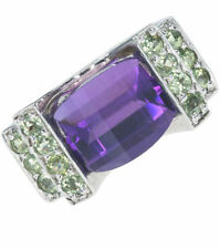 Peridot Amethyst Sterling Silver Natural Fine Jewellery