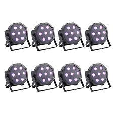 8PCS RGBW LED Par Light DMX512 75W 8Ch Club KTV Wedding DJ X'mas