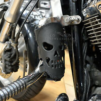 MOTORCYCLE BIKER CUSTOM REAL LEATHER CUP DRINK CAN BOTTLE HOLDER WITH SKULL GIFT
