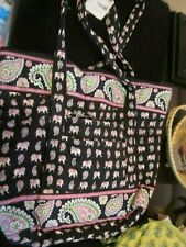VERA BRADLEY RETIRED PINK ELEPHANT VILLAGER SHOULDER BAG BRAND NEW WITH TAGS