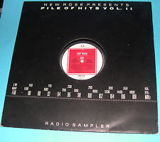Various - Pile Of Hits Vol 2 LP Radio Sampler (French New Rose Free 008)Rare '86