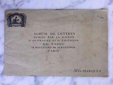 Album de lettres d'ouvrages et d'éditions de Sajou Paris