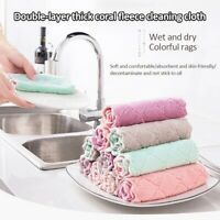 Home Cleaning Cloth 10 Pack Microfiber Dish Towel Dust Kitchen All Purpose