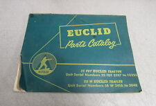Euclid 25 FDT Tractor 58 W Trailer Parts Catalog Manual PC 58-08