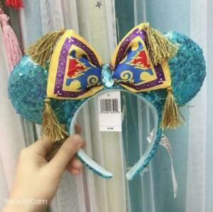 Disney Parks New Years Minnie Ears 2020 Celebration Blue Sparkle Bow Headband