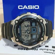 Casio AE-2000W-1A Digital World Time Mens Sports Alarm 200M Resin Watch AE2000W