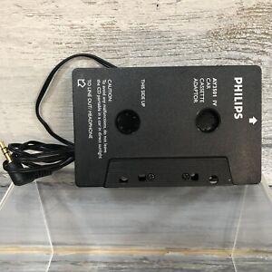 PHILIPS AY3501 IV BLACK CAR CASSETTE ADAPTOR Genuine clean working