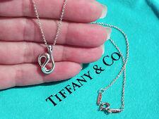 Tiffany & Co Elsa Peretti Sterling Silver Open Wave Pendant Necklace 16 Inch