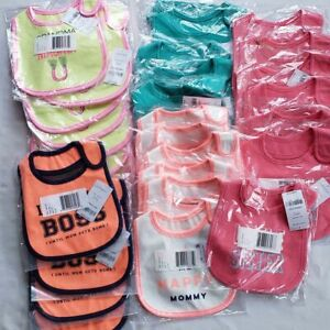 Lot of 29 Carter's Baby Bibs New $203 Value Resellers