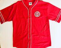 Rare Vintage Cleveland Indians MLB Lee Sport Men's XL Warm Up Jersey.