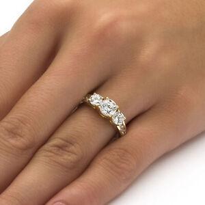 Cubic Zirconia 10k Gold Engagement Anniversary Ring